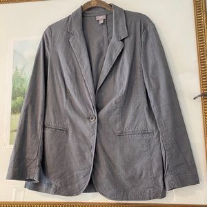 J Jill S Petite Linen Blend Stretch Blazer Jacket